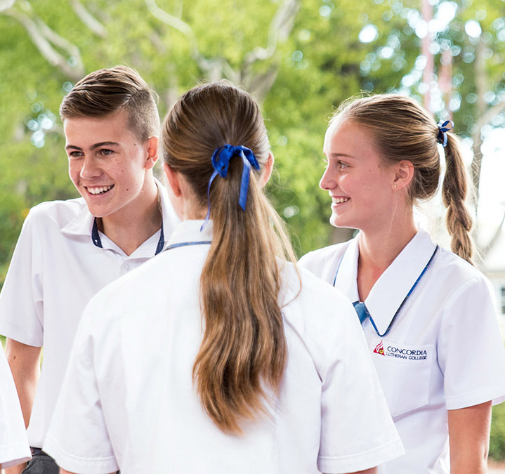 Queensland Certificate Education senior male and female students