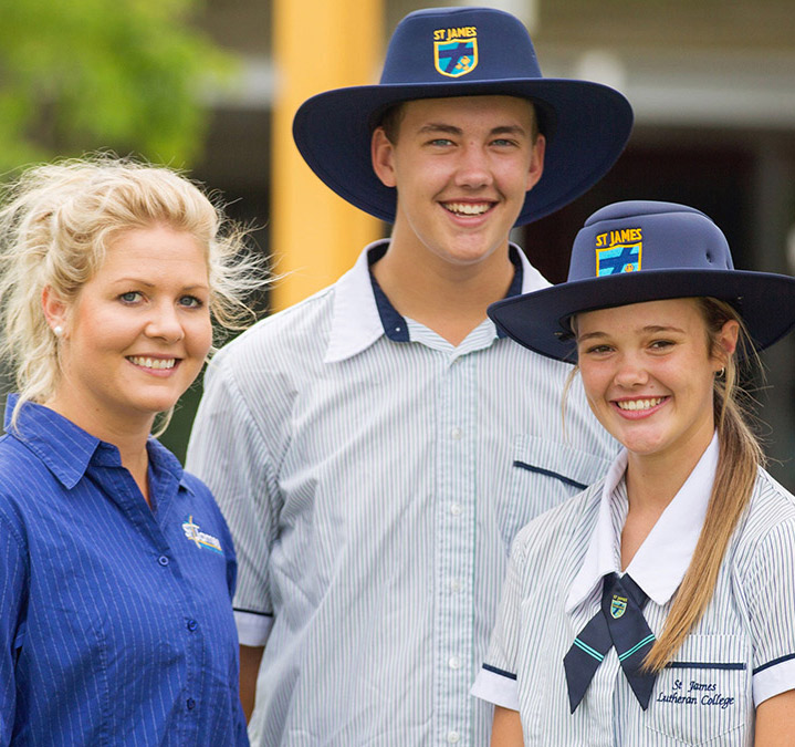 Tertiary ready - two senior female students a senior male student